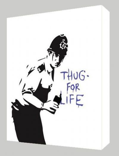 Banksy Thug for Life Canvas Art - Choose your size - Ready to Hang - Free P&P